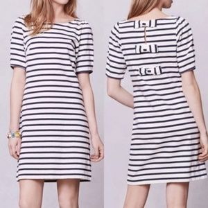 ANTHROPOLOGIE Triple Bow Striped Dress {X50}